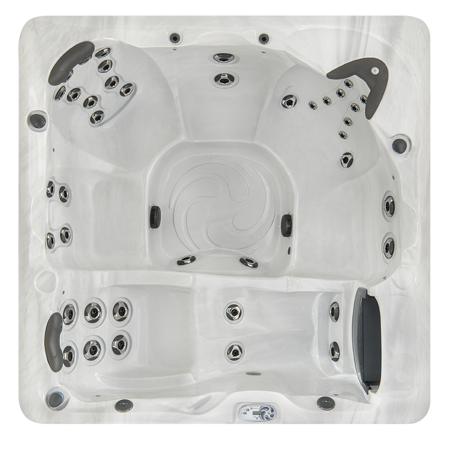 hot tub design view of jets