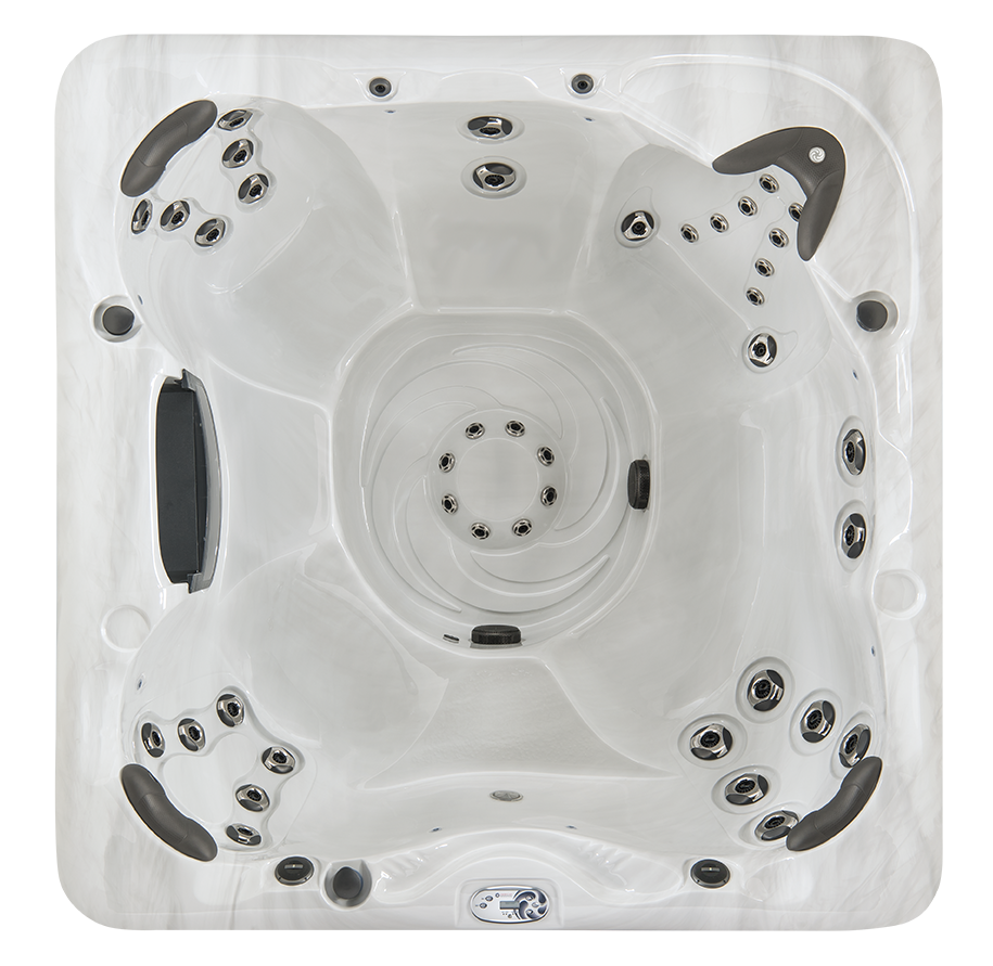 hot tub with four seats design view