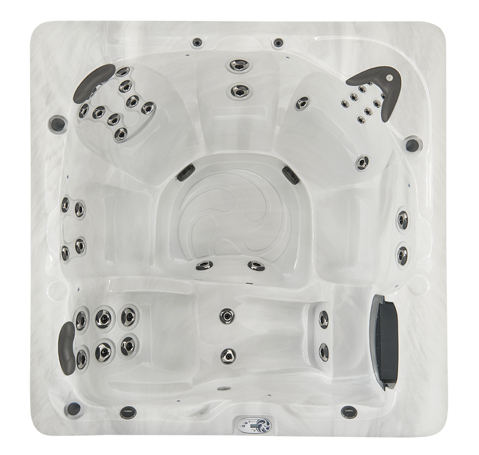 hot tub design overhead view of jets