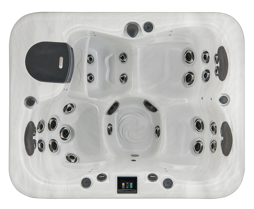 rectangle hot tub design view